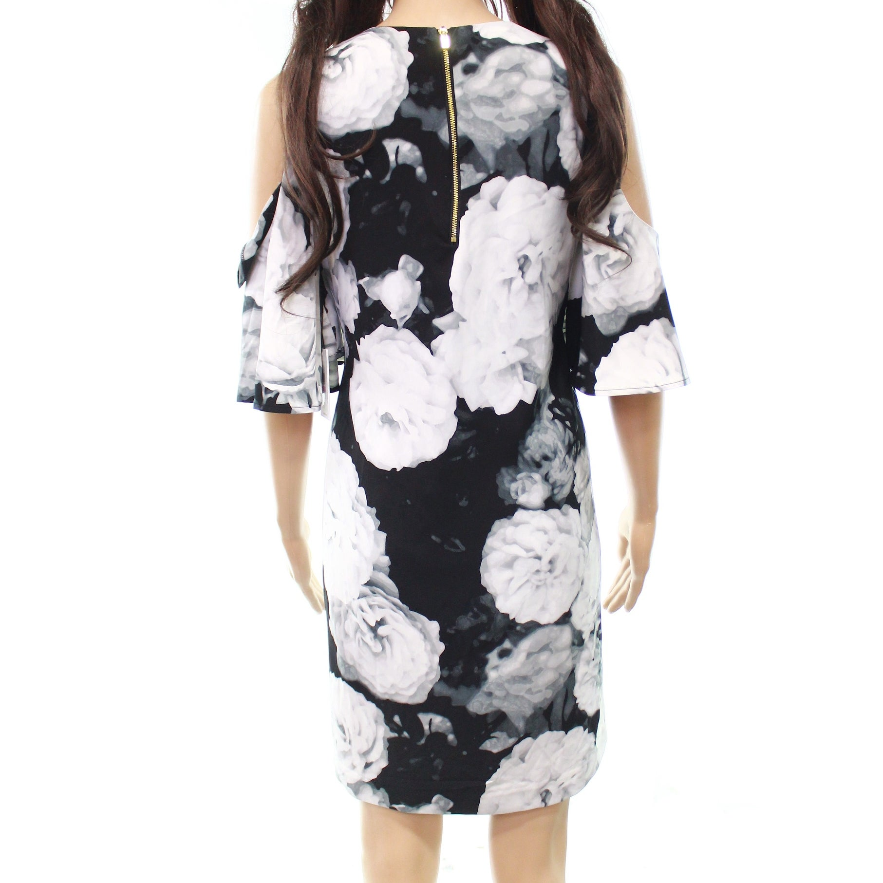 0e3f91ff Shop Calvin Klein Womens Floral Cold-Shoulder Shift Dress- - Free Shipping  On Orders Over $45 - Overstock - 27046879