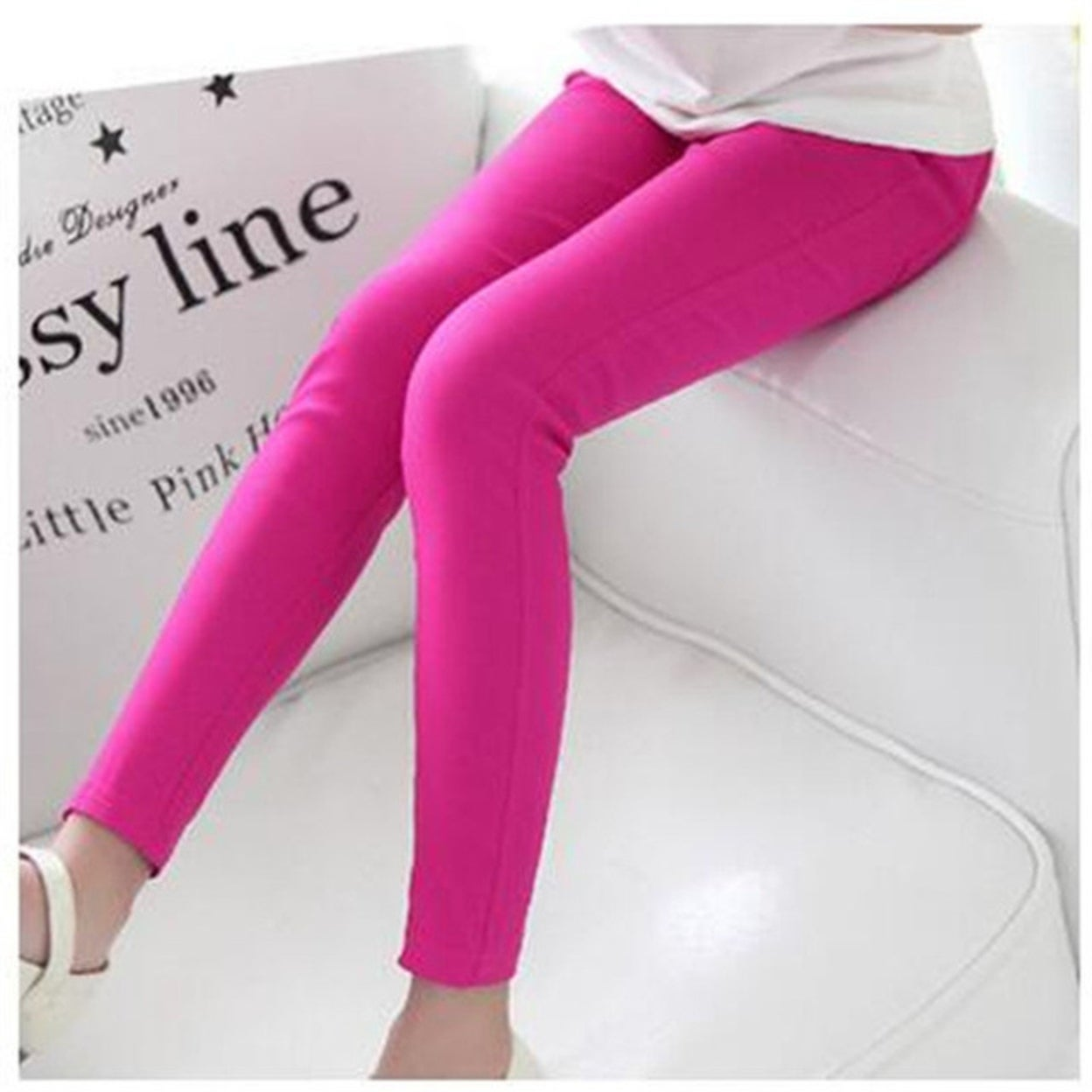 6b0558d49bf42 Shop Girl Leggings Classic Skinny Pencil Long Pants Solid Candy Color for  Girls Middle Children Long Trousers Baby Kids - Free Shipping On Orders  Over $45 ...
