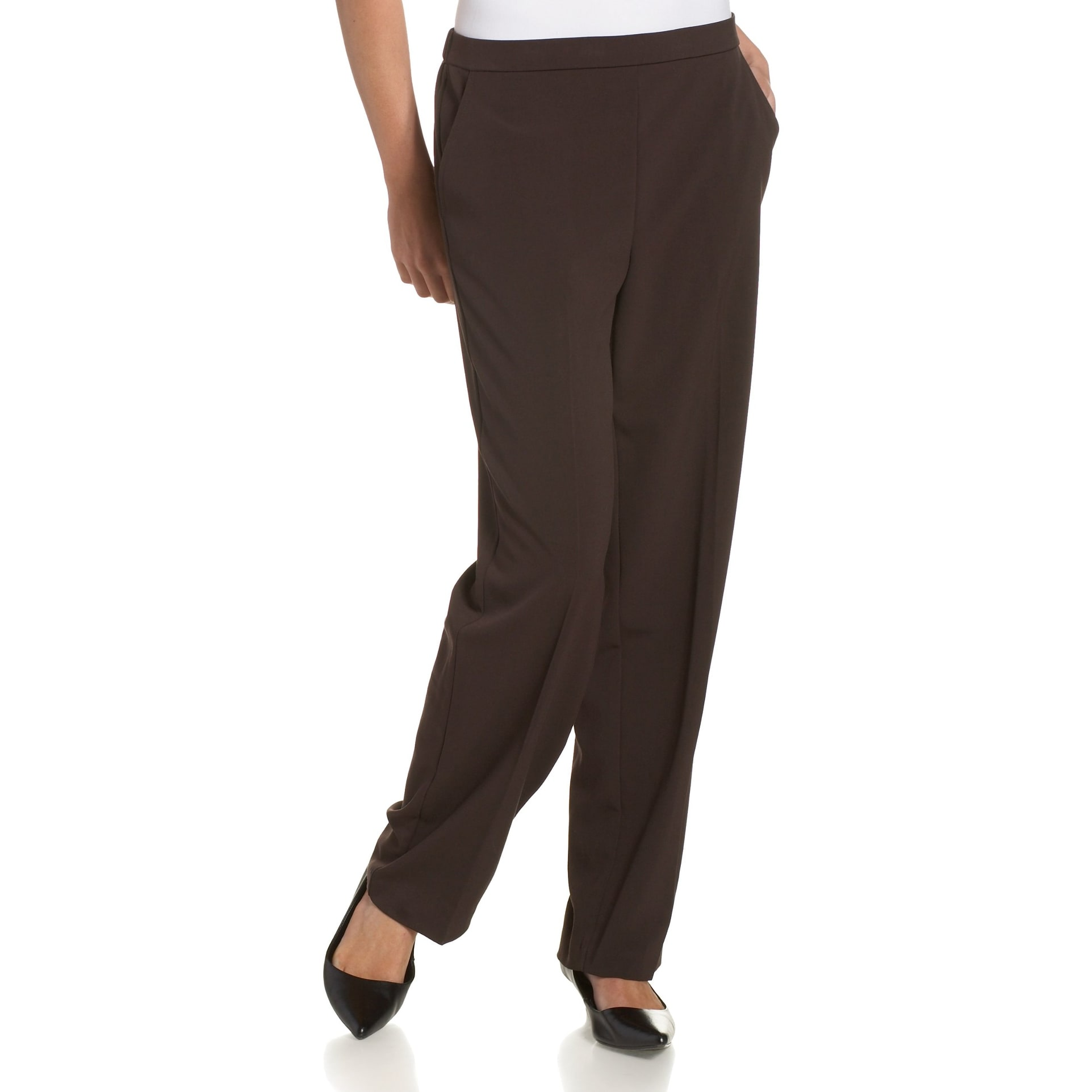 c024b81c6 Shop Briggs Brown Women's Size 16X30 Pull On Dress Pants Stretch ...