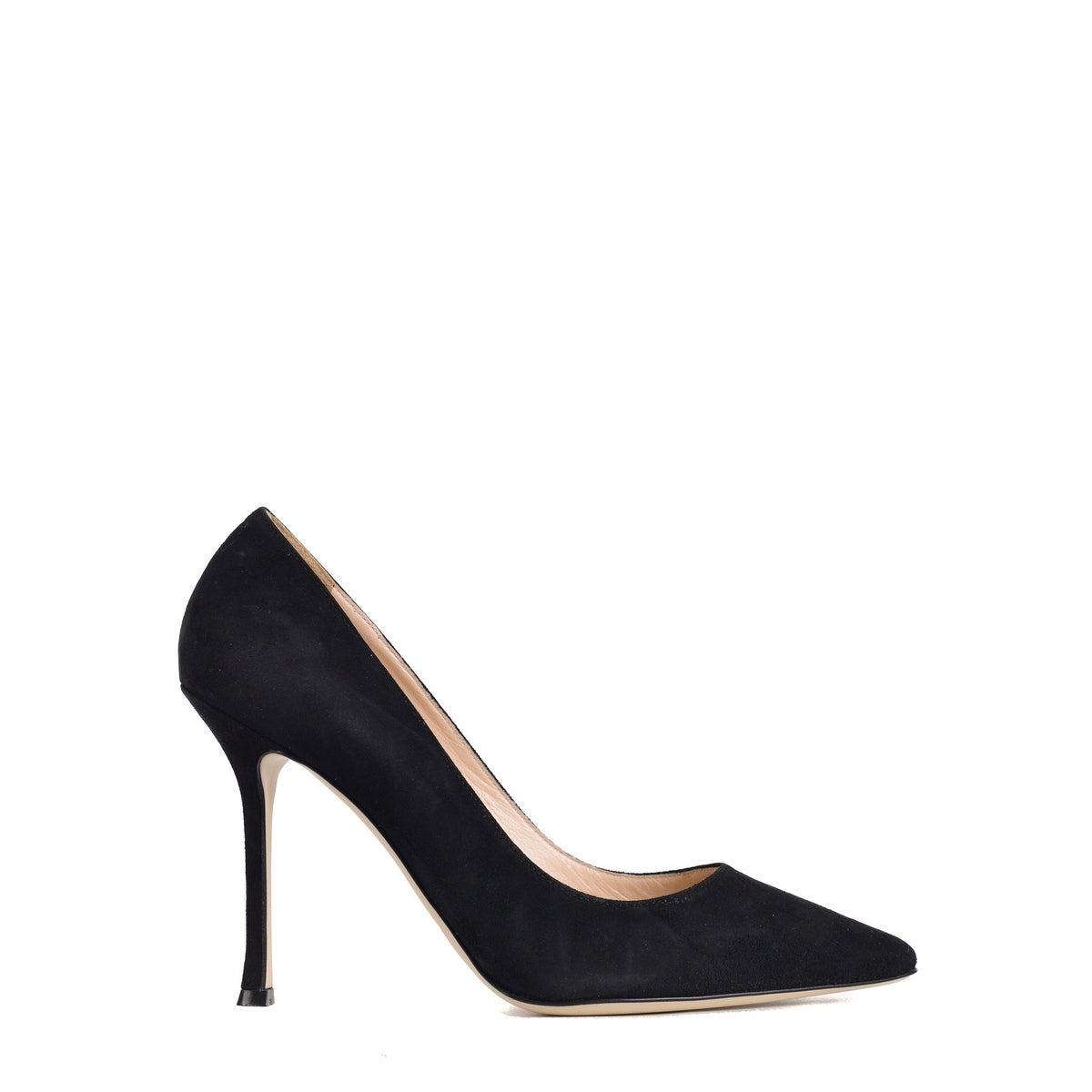 designer fashion eef27 6a16f Sergio Rossi Womens Black Suede Scarpe Donna Classic Pumps