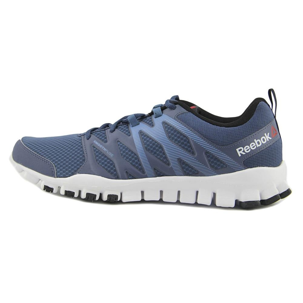 the latest 4af8d 963c2 Shop Reebok Realflex Train 4.0 Men Round Toe Canvas Blue Cross Training -  Free Shipping On Orders Over  45 - Overstock - 19452982