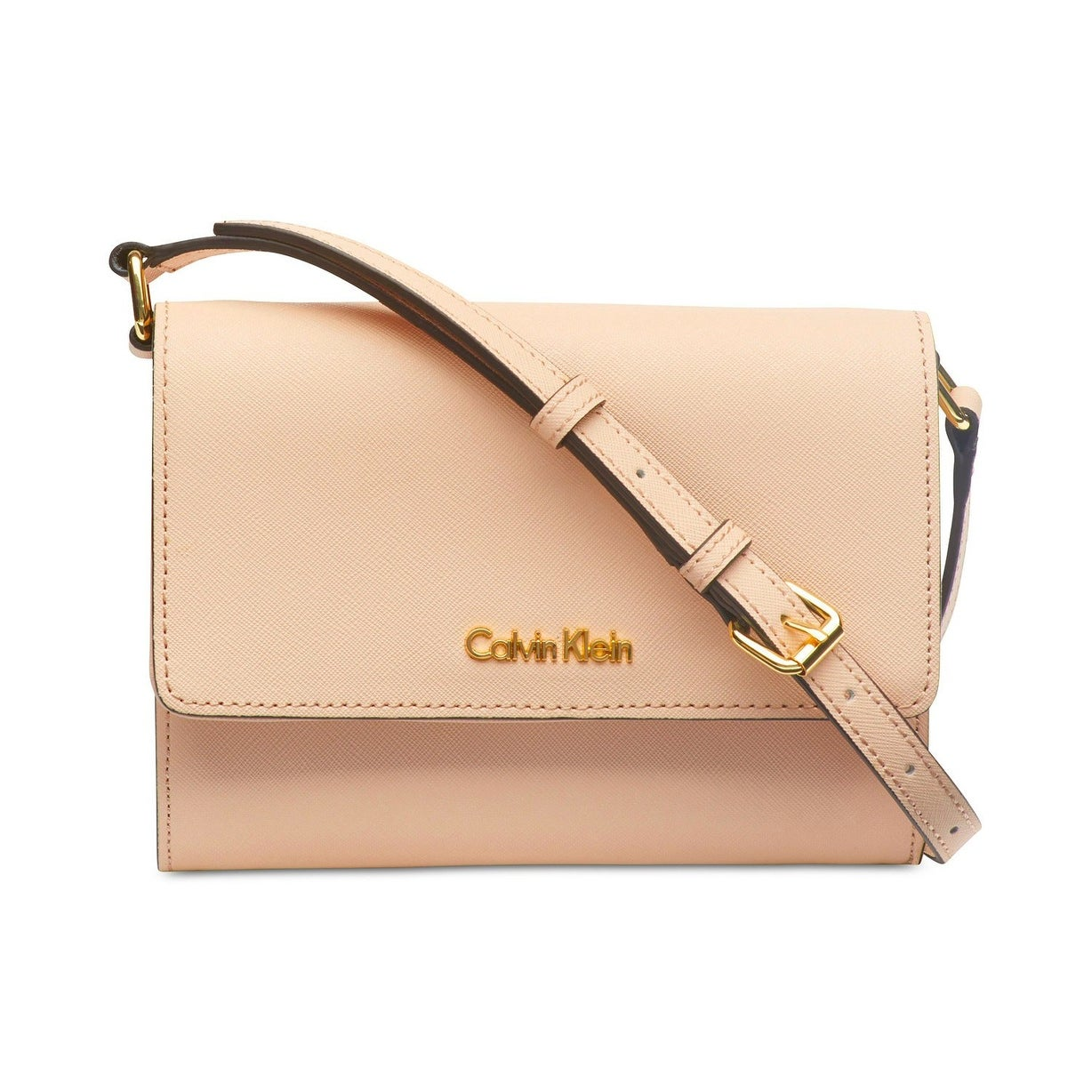 dcb8be847480 Shop Calvin Klein Josie Saffiano Leather Mini Crossbody Bag Desert Taupe -  Free Shipping Today - Overstock - 26428977