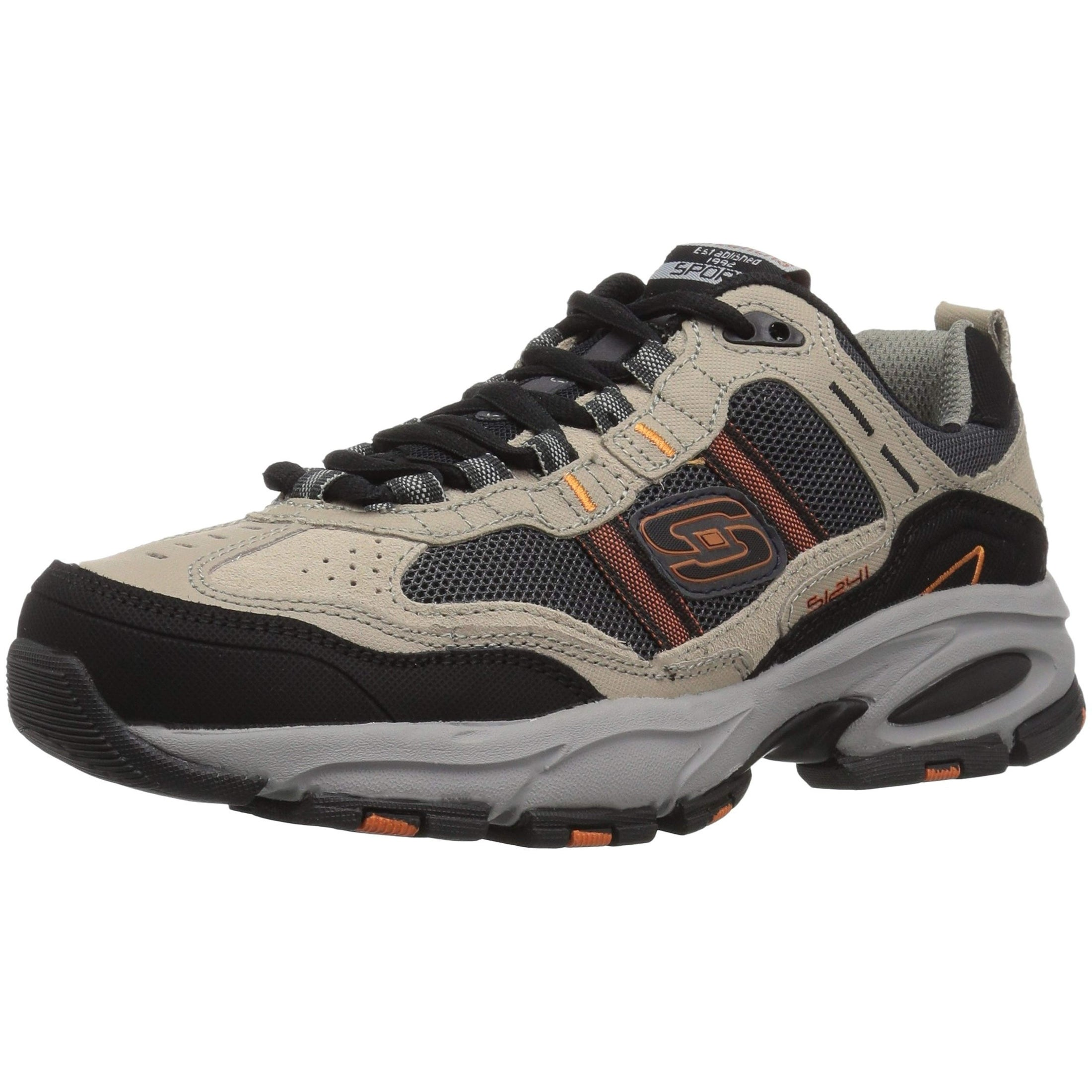 afd54458508ed Shop Skechers Sport Men's Vigor 2.0 Trait Memory Foam Sneaker, Taupe/Black  - Free Shipping Today - Overstock - 27125701