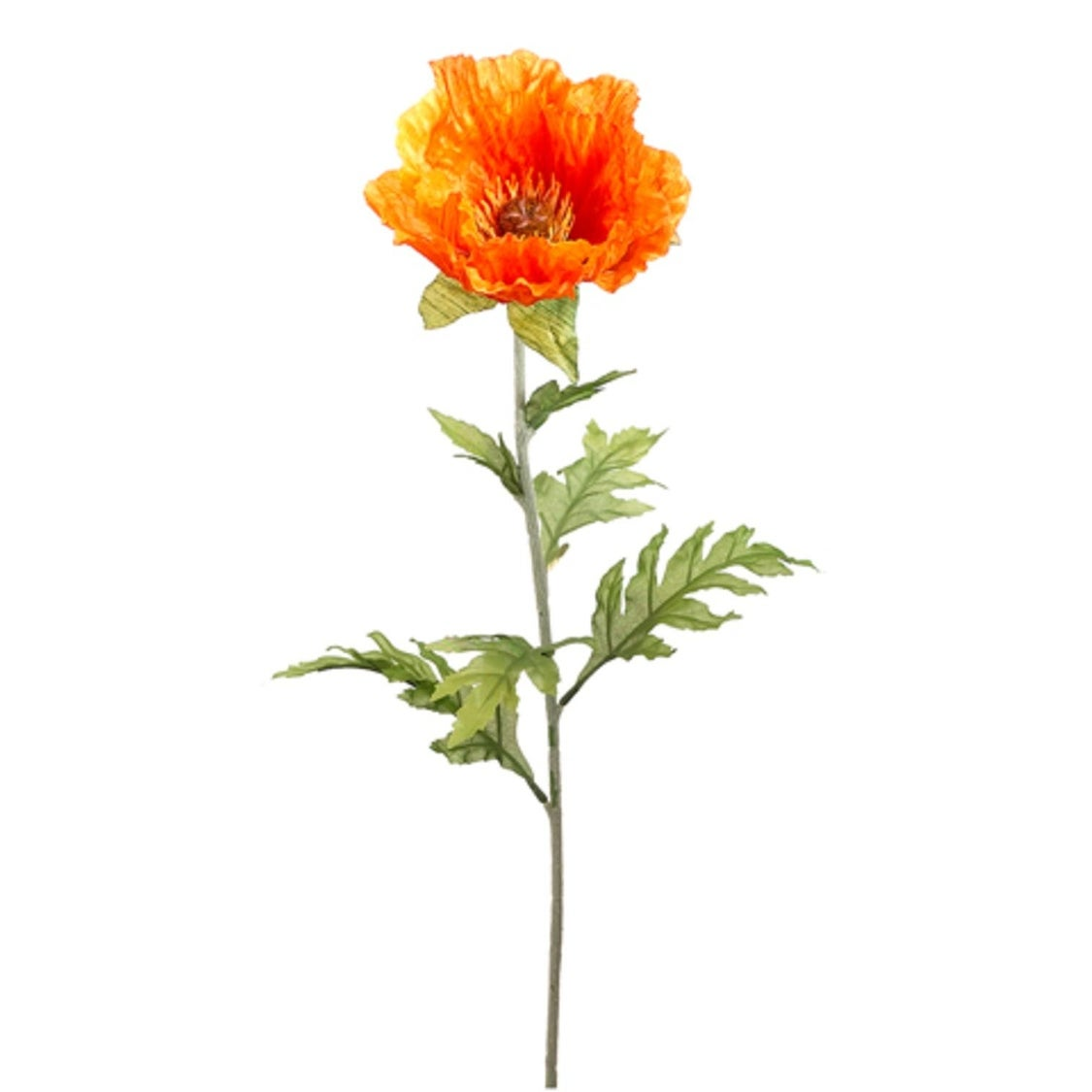 Shop Club Pack Of 24 Orange Poppy Flower Artificial Floral Craft