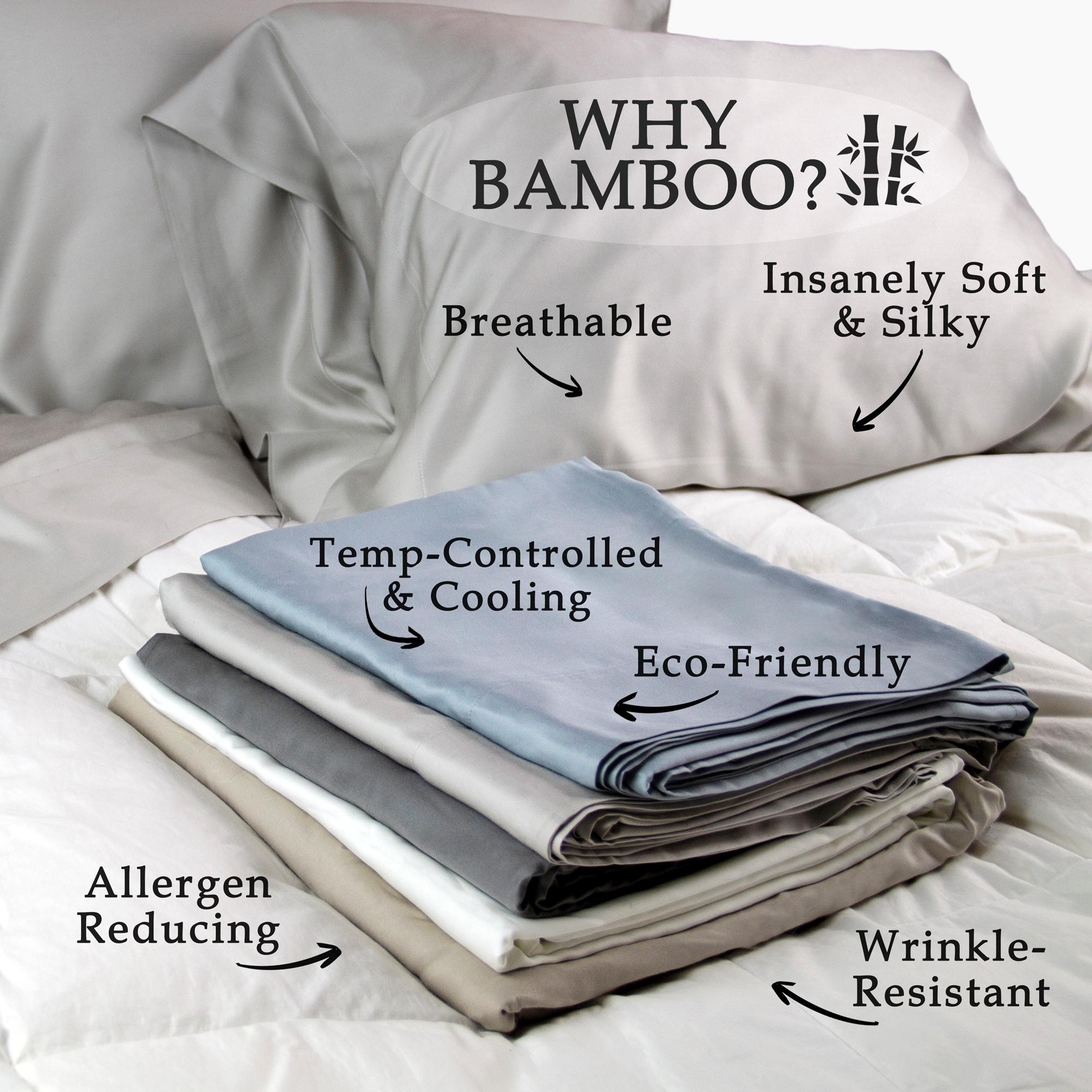 100 Sa Bamboo Sheets Set Pillow Cases Top Sheet And Ed Free Shipping Today 26444219