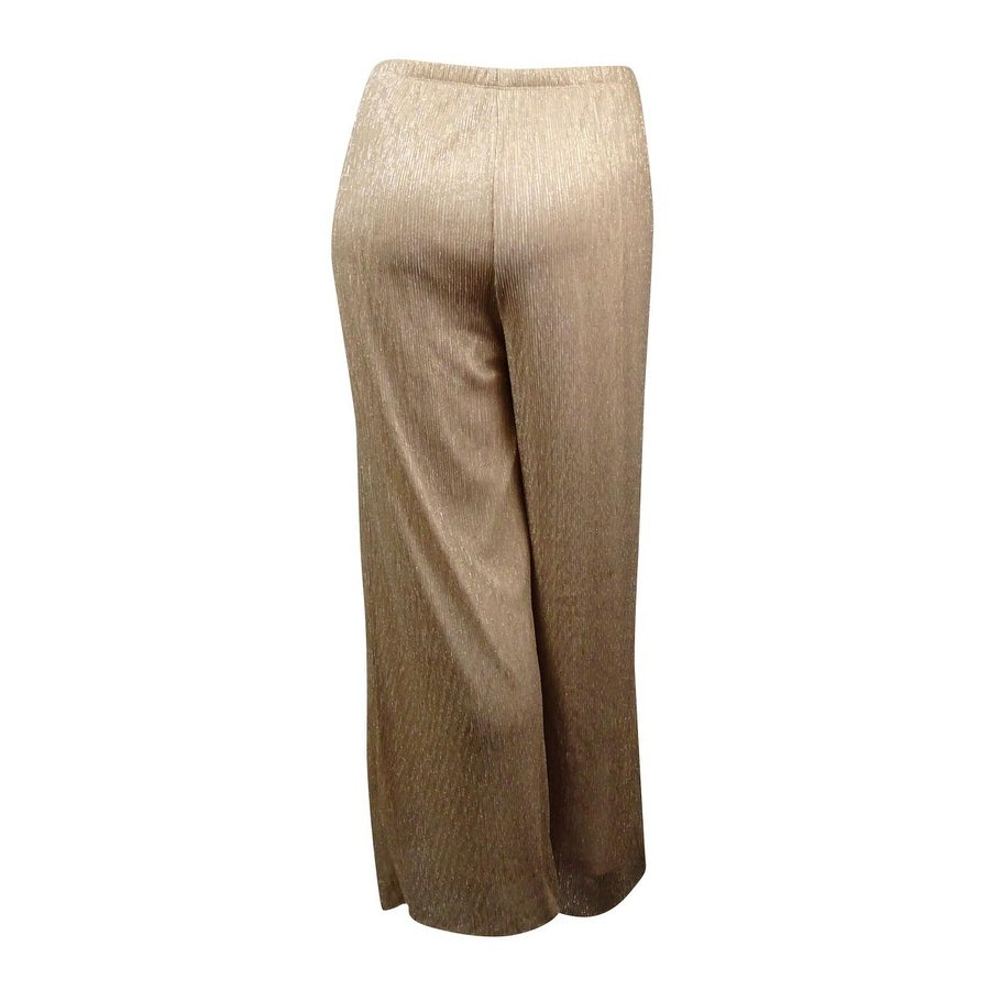 81d7f935e866 Shop MSK Women s Pleated Metallic Mesh Wide Pants (2X