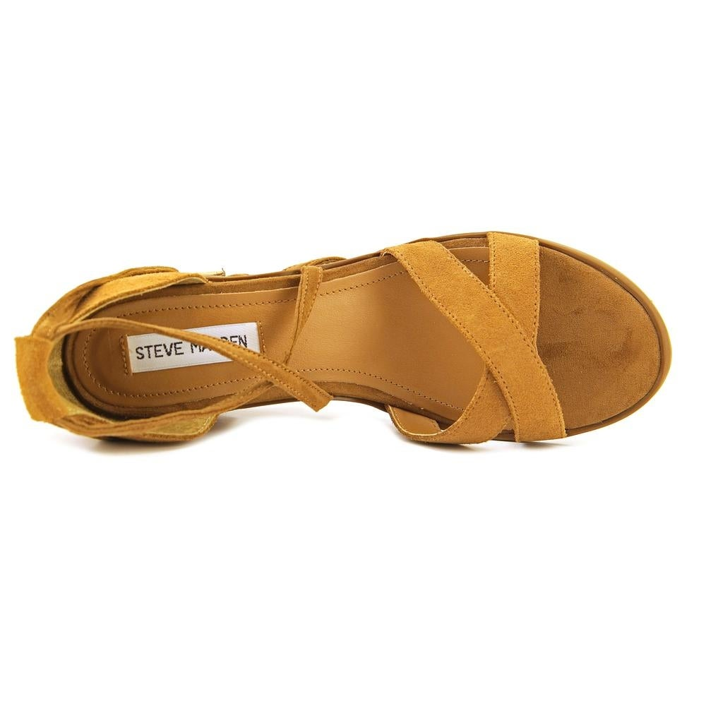 653675774b5 Shop Steve Madden Kanzley Women Open Toe Leather Tan Sandals - Free  Shipping Today - Overstock - 16982514