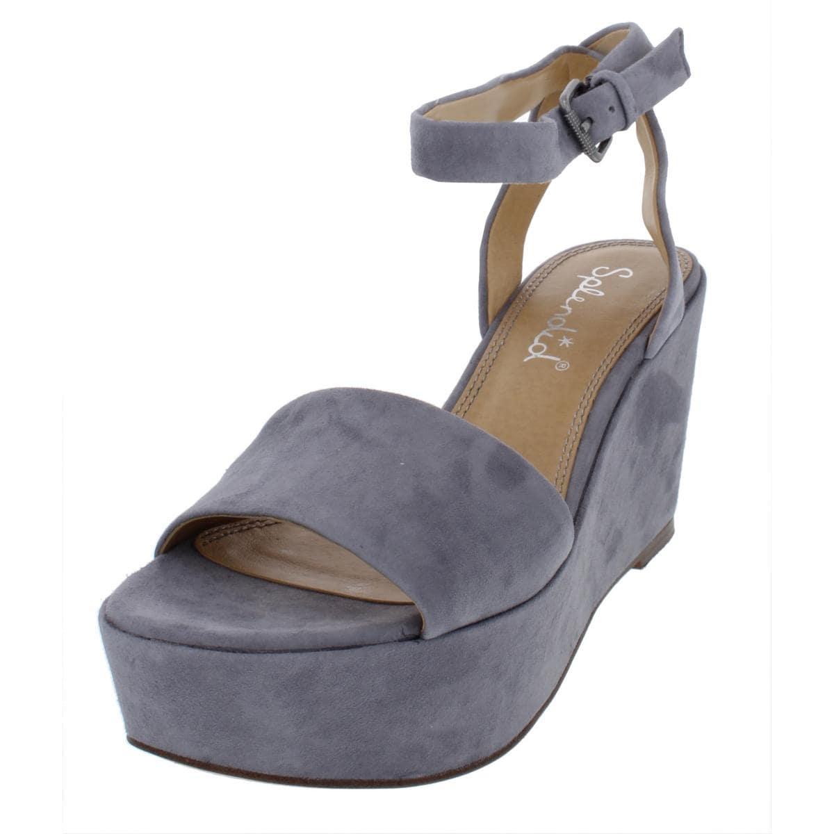 7eeeb5ad2983 Shop Splendid Womens Felix Platform Sandals Suede Wedge - Free Shipping  Today - Overstock - 26879646