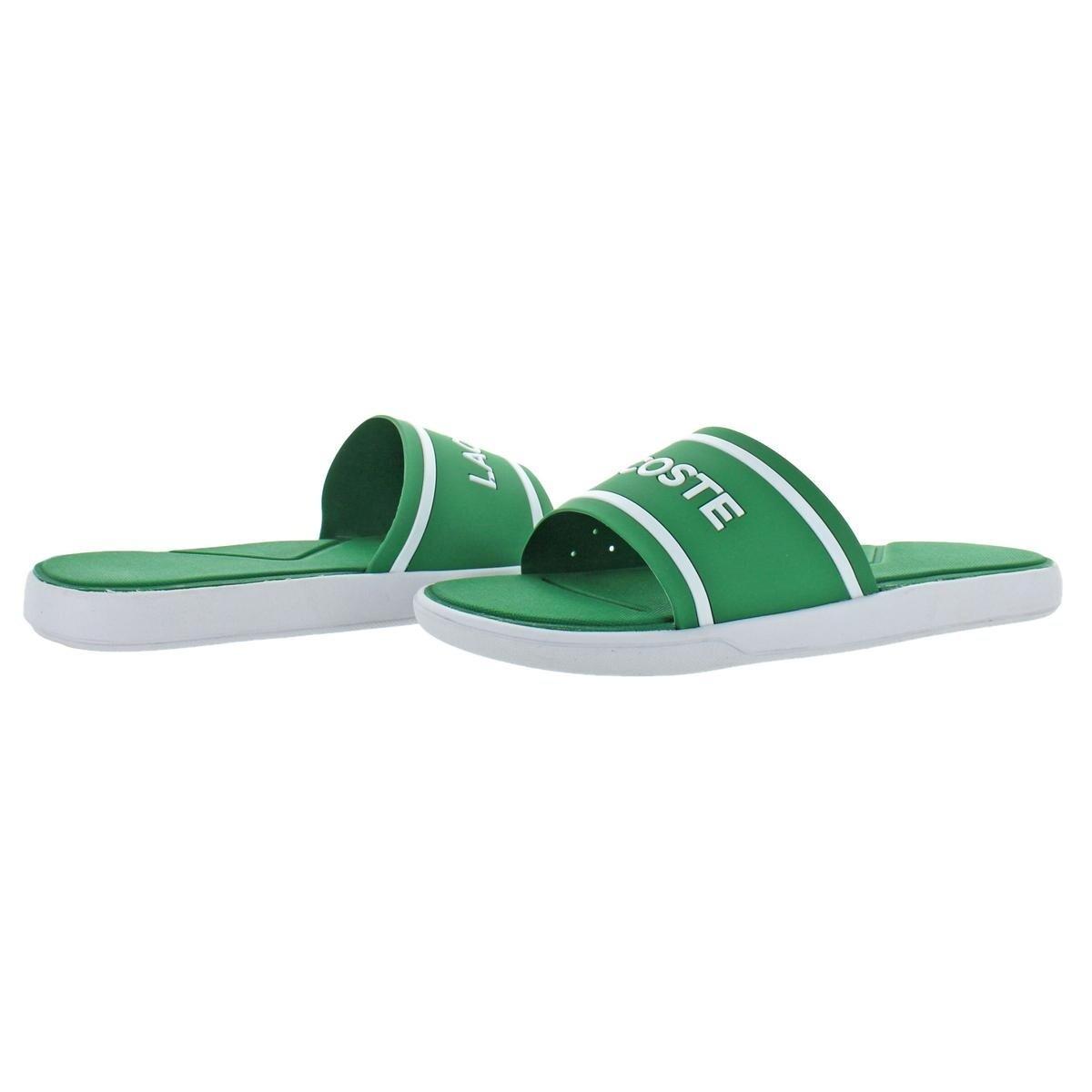 f997b14b94bf Shop Lacoste Mens L.30 Slide 118 3 Slide Sandals Casual Athletic ...
