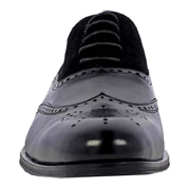 b27587df0eb52 Stacy Adams Men's Stanbury Wingtip Oxford 25070 Black Leather/Suede