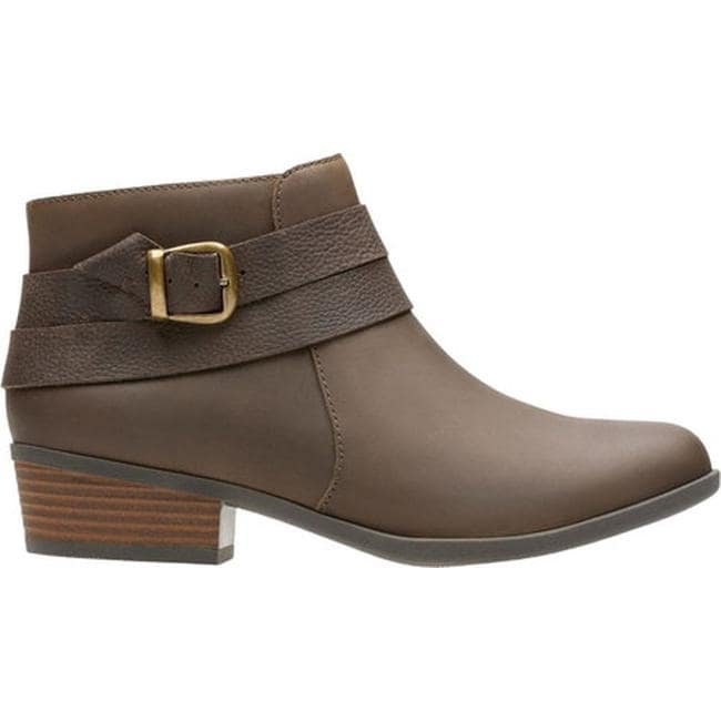 c64fa7e30bd Shop Clarks Women s Addiy Cora Ankle Bootie Olive Leather - Free Shipping  Today - Overstock - 17417330