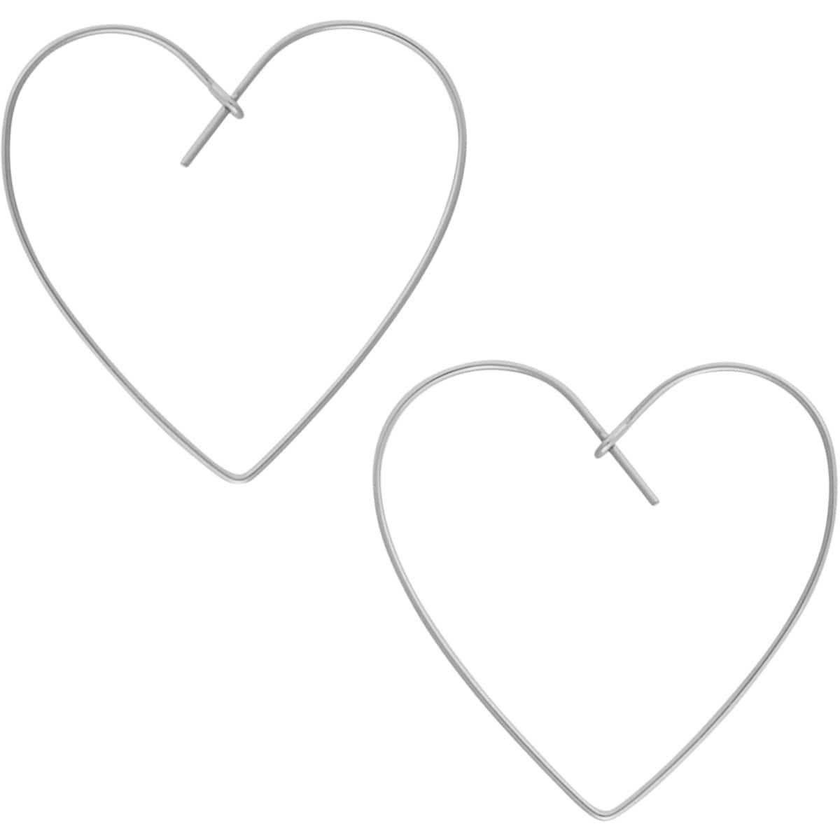 10fdf9d9e22c8 Humble Chic Threader Heart-Shaped Hoop Earrings - Lightweight Open  Geometric Drop Dangles
