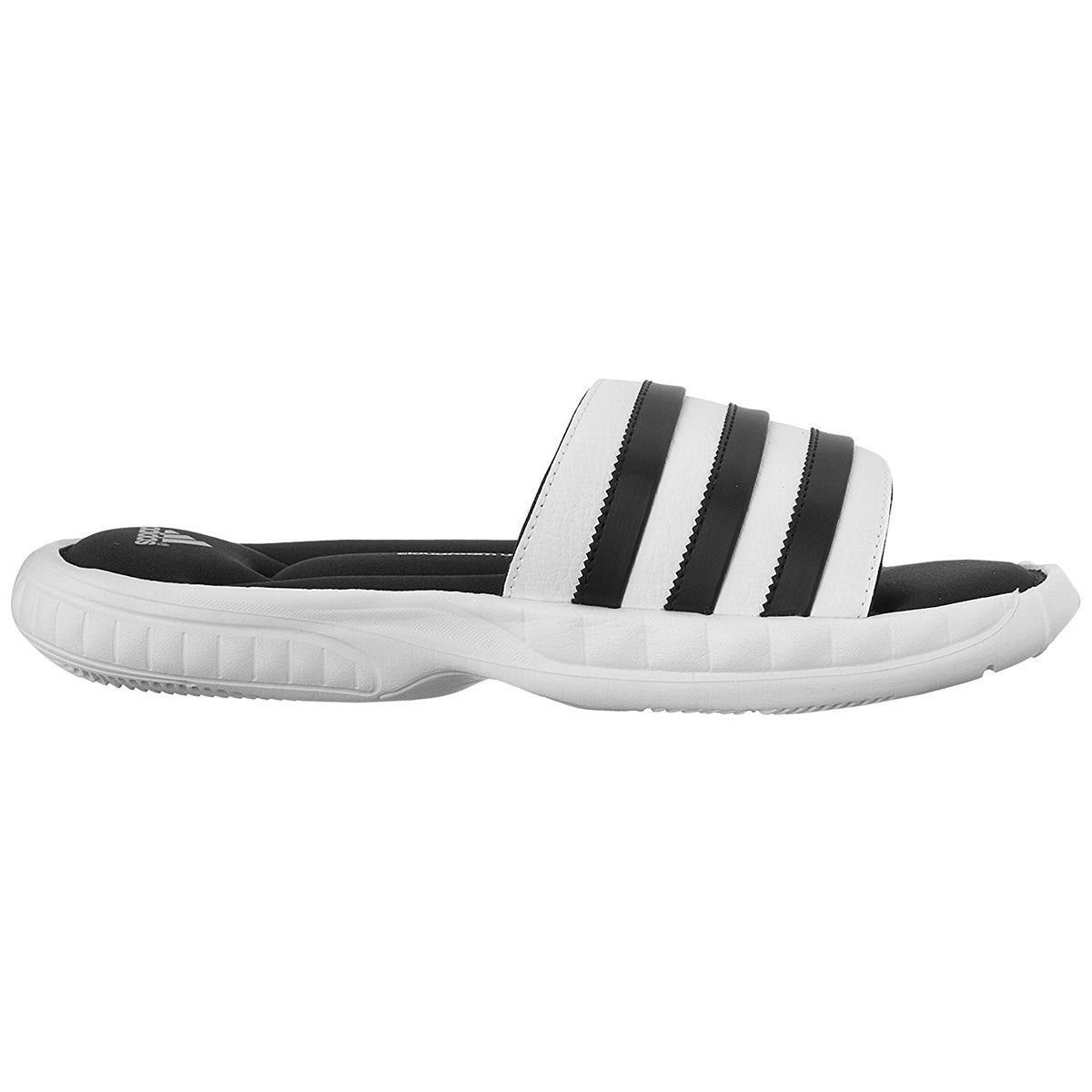9ac08fa3b1c856 ... Shop Adidas Superstar 3G CloudFoam Athletic Slide Sandals - WhiteBlack  - Free Shipping On Orders Over ...