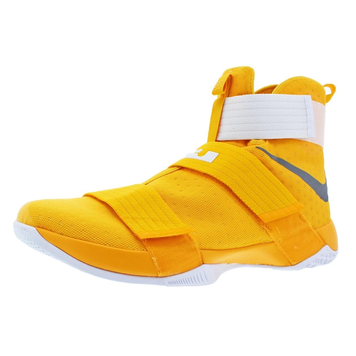 sports shoes e1675 8a730 Shop Nike LeBron Soldier 10 Men s Mesh High-Top Basketball Shoes Yellow  Size 18 - 18 medium (d) - Ships To Canada - Overstock - 22310867