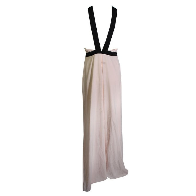 4d23eea527e Shop Jill Jill Stuart Pink Black Colorblcocked Cross Front Halter Gown 6 -  Free Shipping Today - Overstock - 24178668