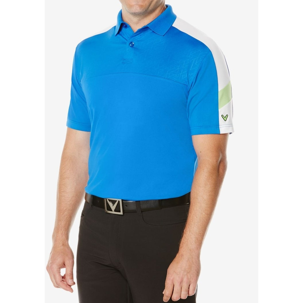Shop Callaway New Blue Men Size Large L Colorblocked Golf Polo