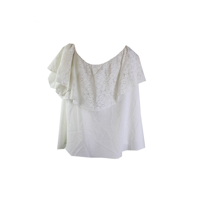 0dc3698974754 Shop Rachel Rachel Roy Plus Size Ivory Off-The-Shoulder Lace Top 3X - Free  Shipping On Orders Over  45 - Overstock.com - 24190761