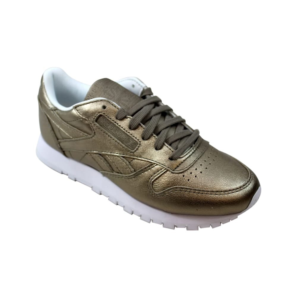 89b89066ba7 Shop Reebok Classic Leather Melted Metal Pearl Metallic Grey Gold BS7898  Women s - Free Shipping Today - Overstock - 27640714