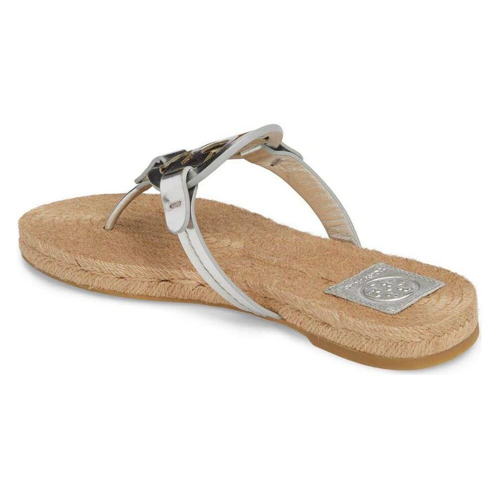 d31329cfc3c Shop Tory Burch Miller Metallic Sandal Womens - 8 - Free Shipping Today -  Overstock - 25738022