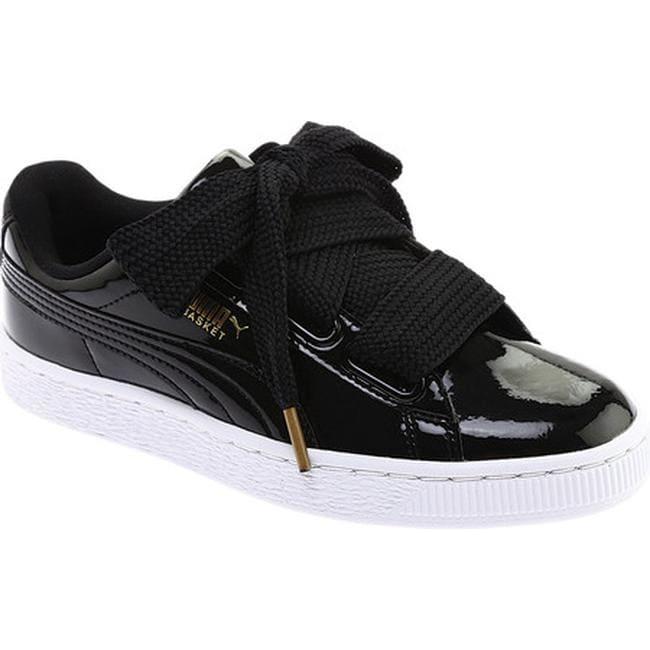 Shop PUMA Women s Basket Heart Patent Sneaker PUMA Black PUMA Black ... 57840ae0b6db3