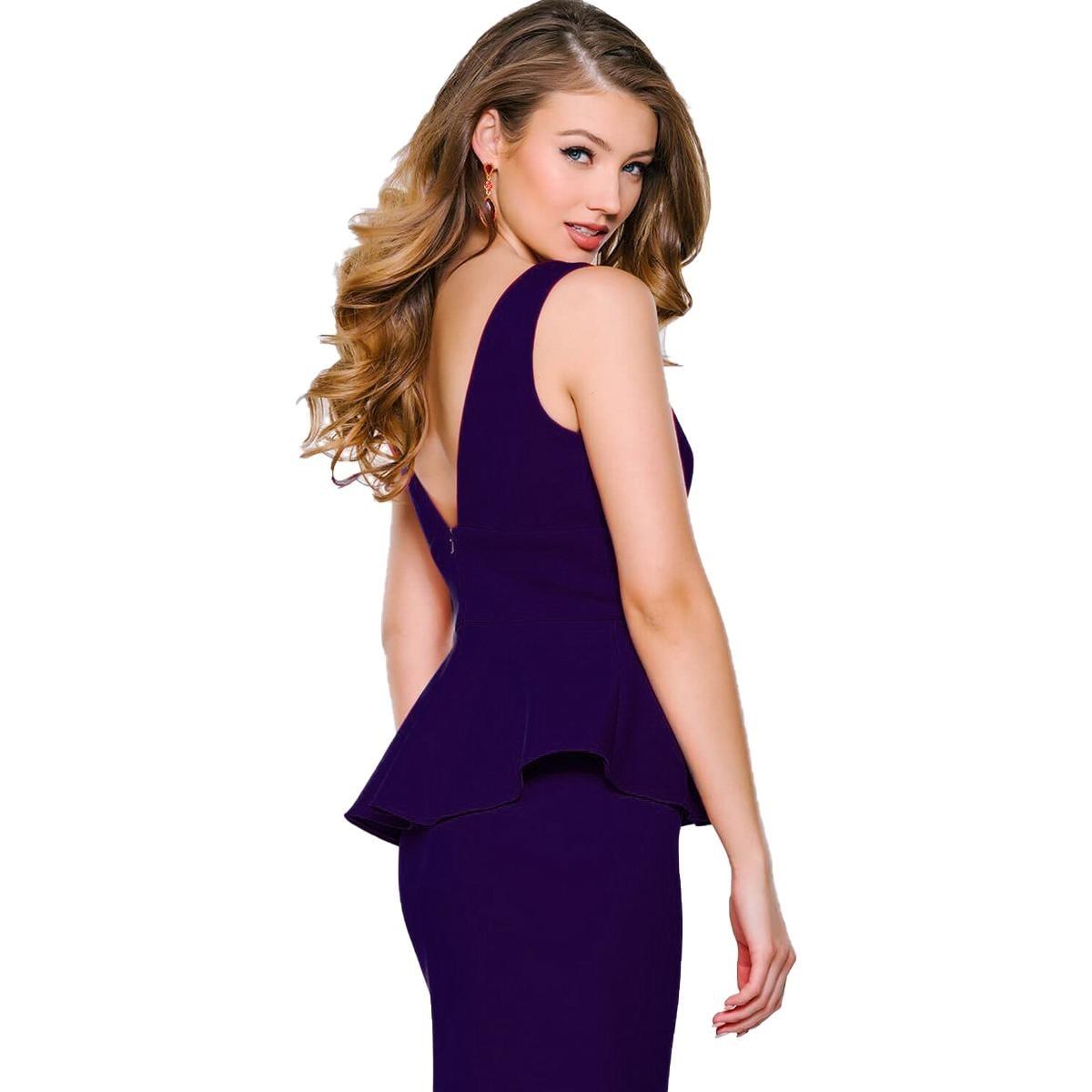 bed1cdca691 Shop Jovani Peplum Sleeveless Formal Dress - Free Shipping Today -  Overstock.com - 20489116