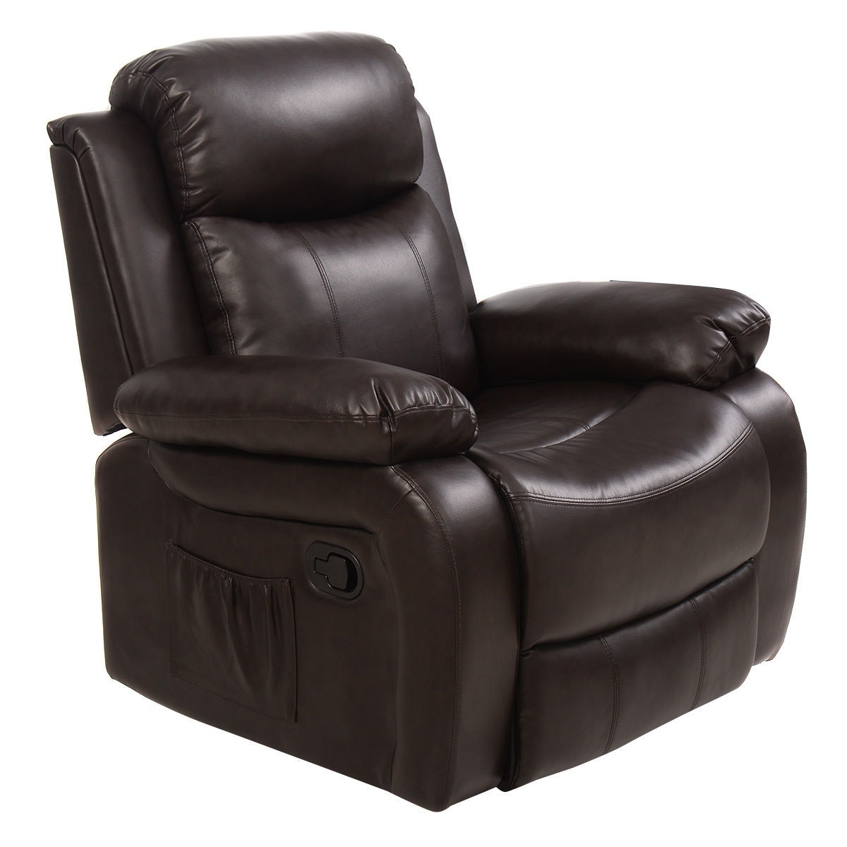 Shop Costway Ergonomic Massage Sofa Chair Head Supported Recliner Swivel  Heating W/ Control   Free Shipping Today   Overstock.com   18606361