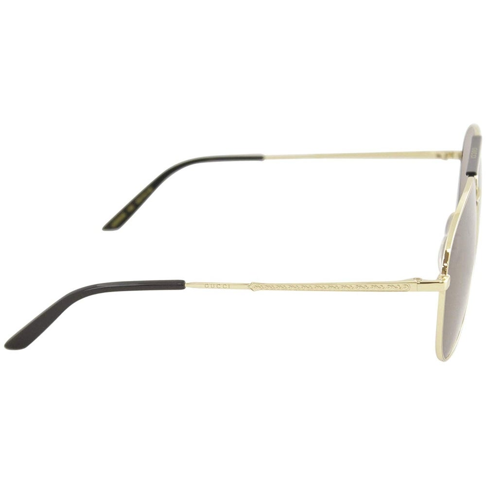 79971a40ed Shop Gucci Brown Aviator Sunglasses Gg0242S 002 59 - GOLD-GOLD-BROWN - One  Size - Free Shipping Today - Overstock - 24266511