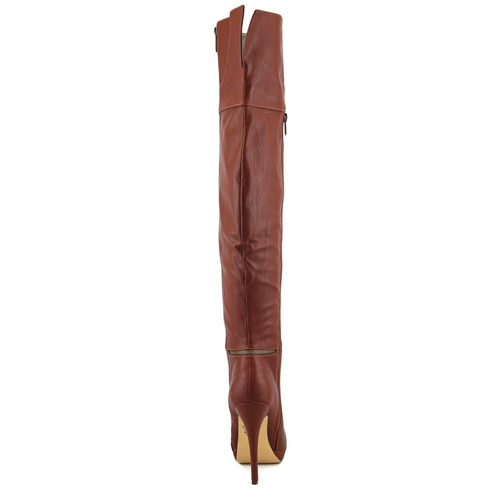 d45cb430122 Shop Michael Antonio Wynni Women Round Toe Synthetic Tan Over the Knee Boot  - Free Shipping Today - Overstock - 19563689