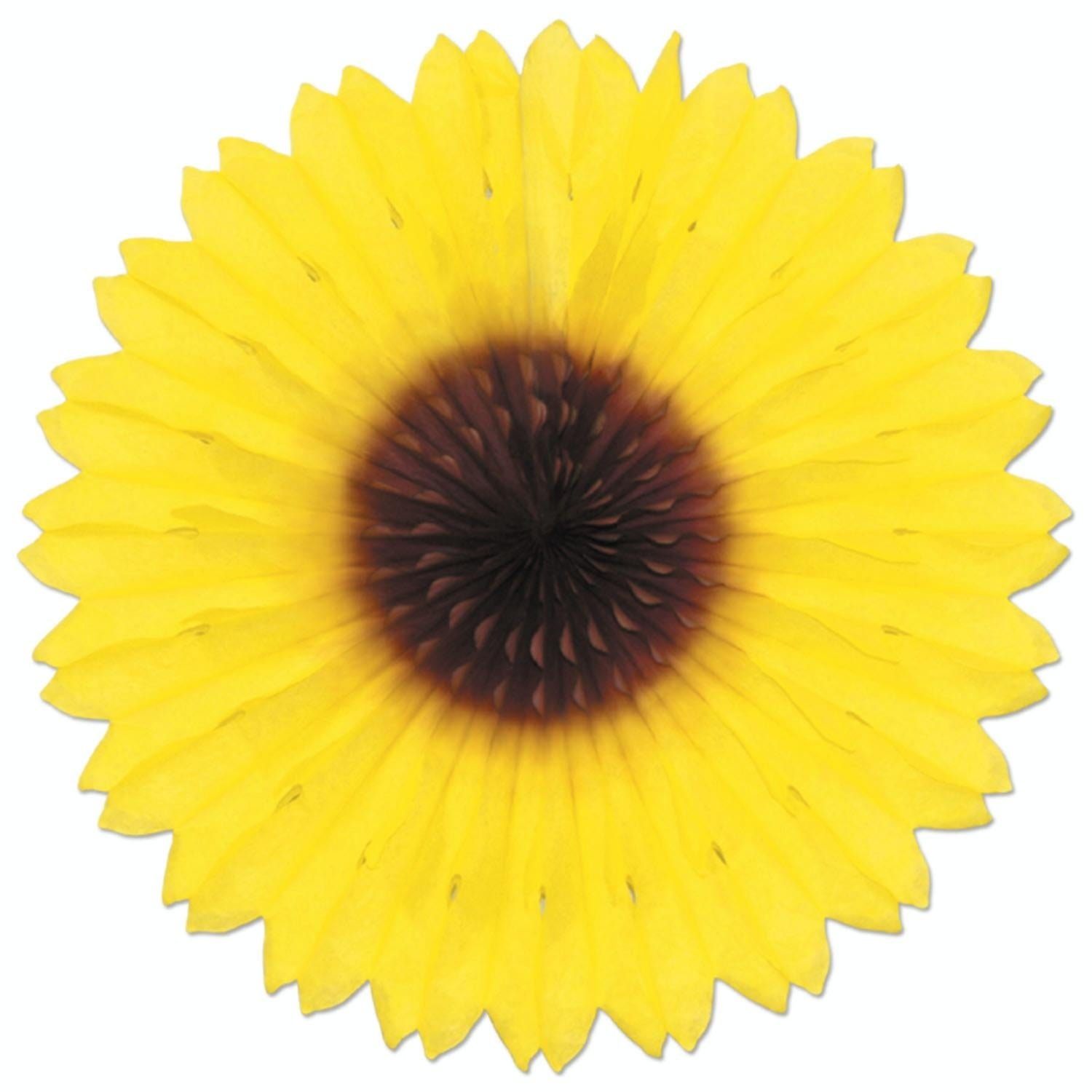 Shop Pack of 12 Colorful Sunflower Hanging Tissue Paper Fan Party ...