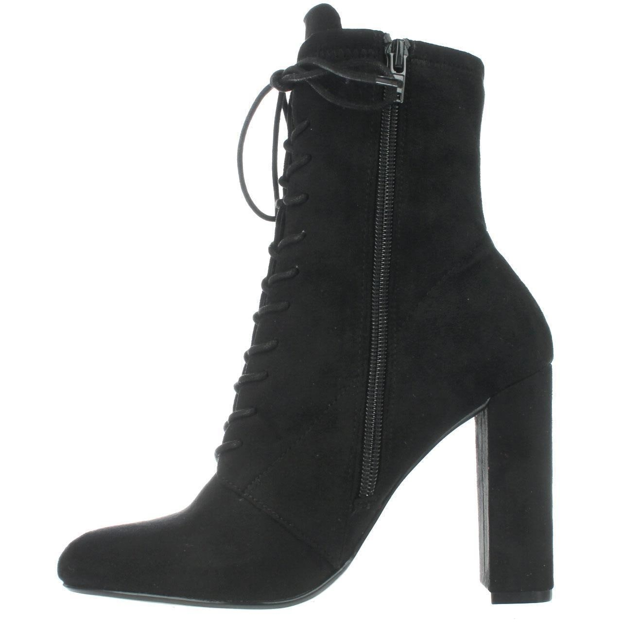 ac5ff79683b Steve Madden Elley High Top Lace Up Ankle Boots, Black