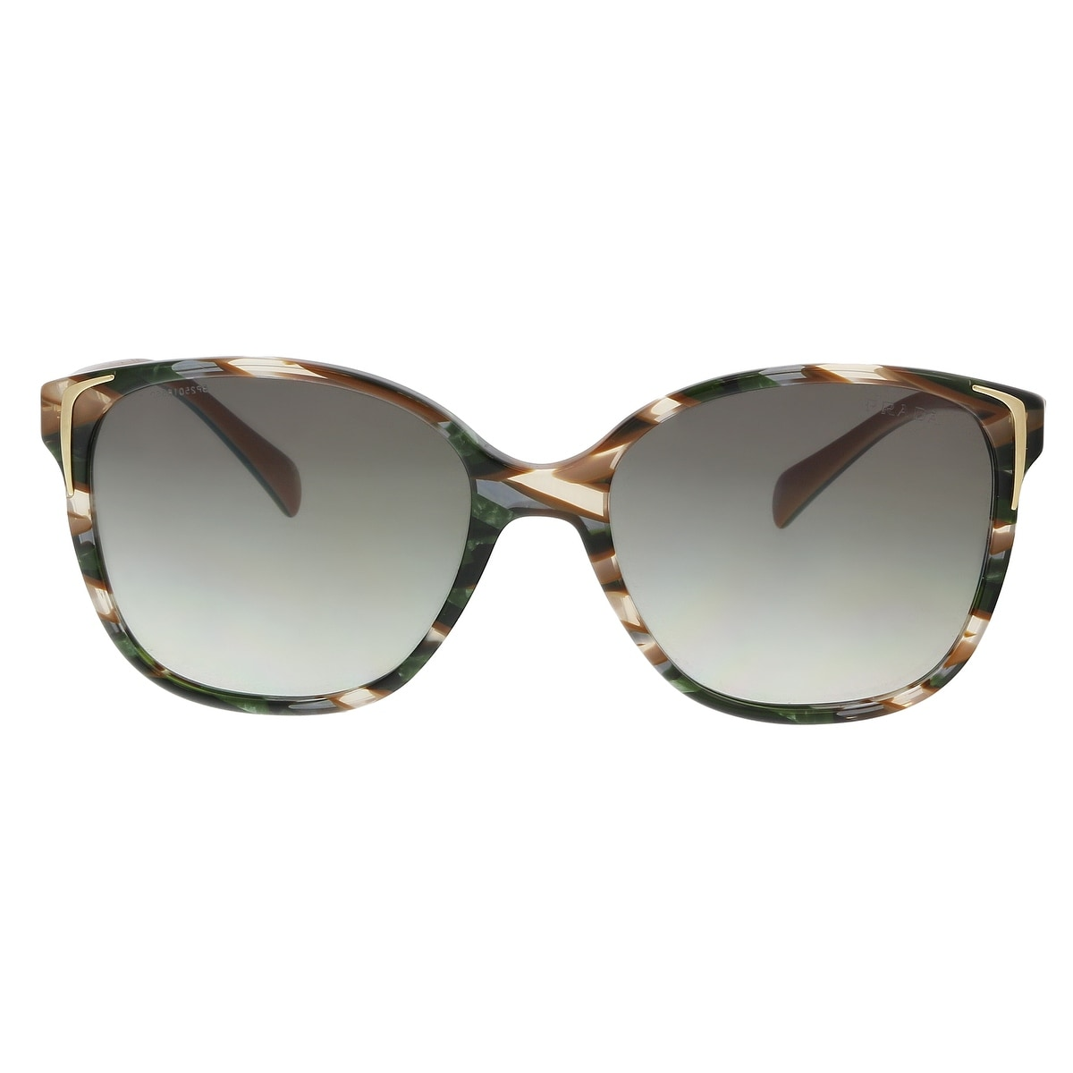 780171332a ... coupon for shop prada pr01os cxy0a7 havana green brown ear square  sunglasses 55 17 140 on