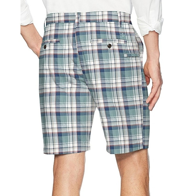 1a0b183817 Shop Dockers NEW Green Blue Mens Size 42 Classic Fit Perfect Plaid Short -  Free Shipping On Orders Over $45 - Overstock - 21181979