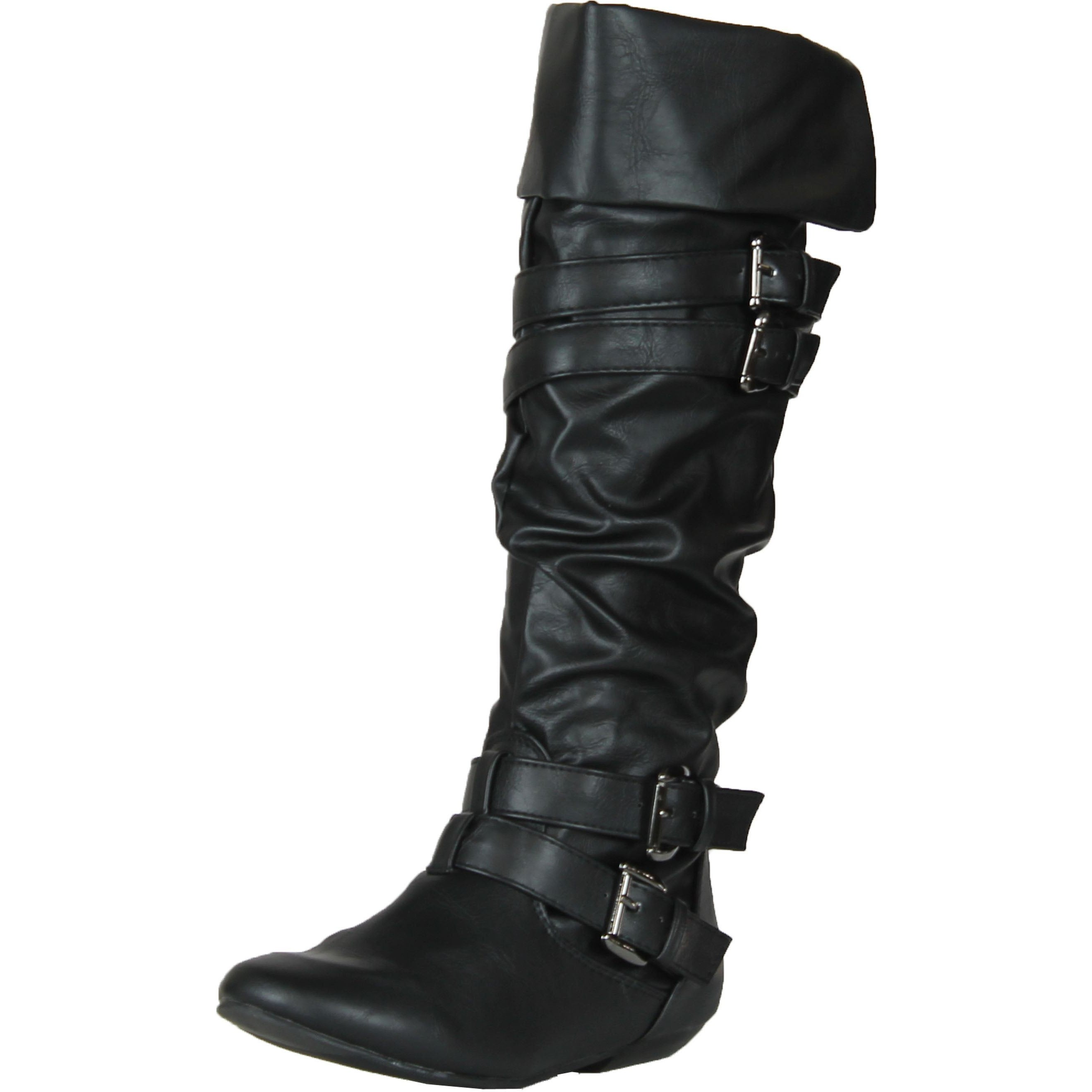 Shop Forever Link Women s Tamika-42 Knee High Riding Boots - Free ... 081a0b3246