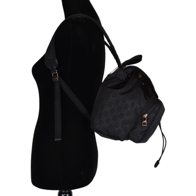 51c91e4562fa Shop Gucci 510343 Black Nylon GG Guccissima Backpack Rucksack Purse Bag -  12.5