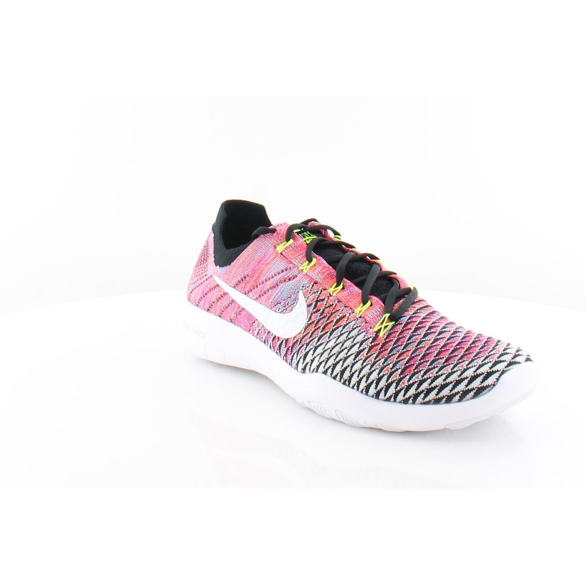 release date: 47a99 3a139 Nike Free Tr Women s Athletic Black White-Volt-Deadly pink