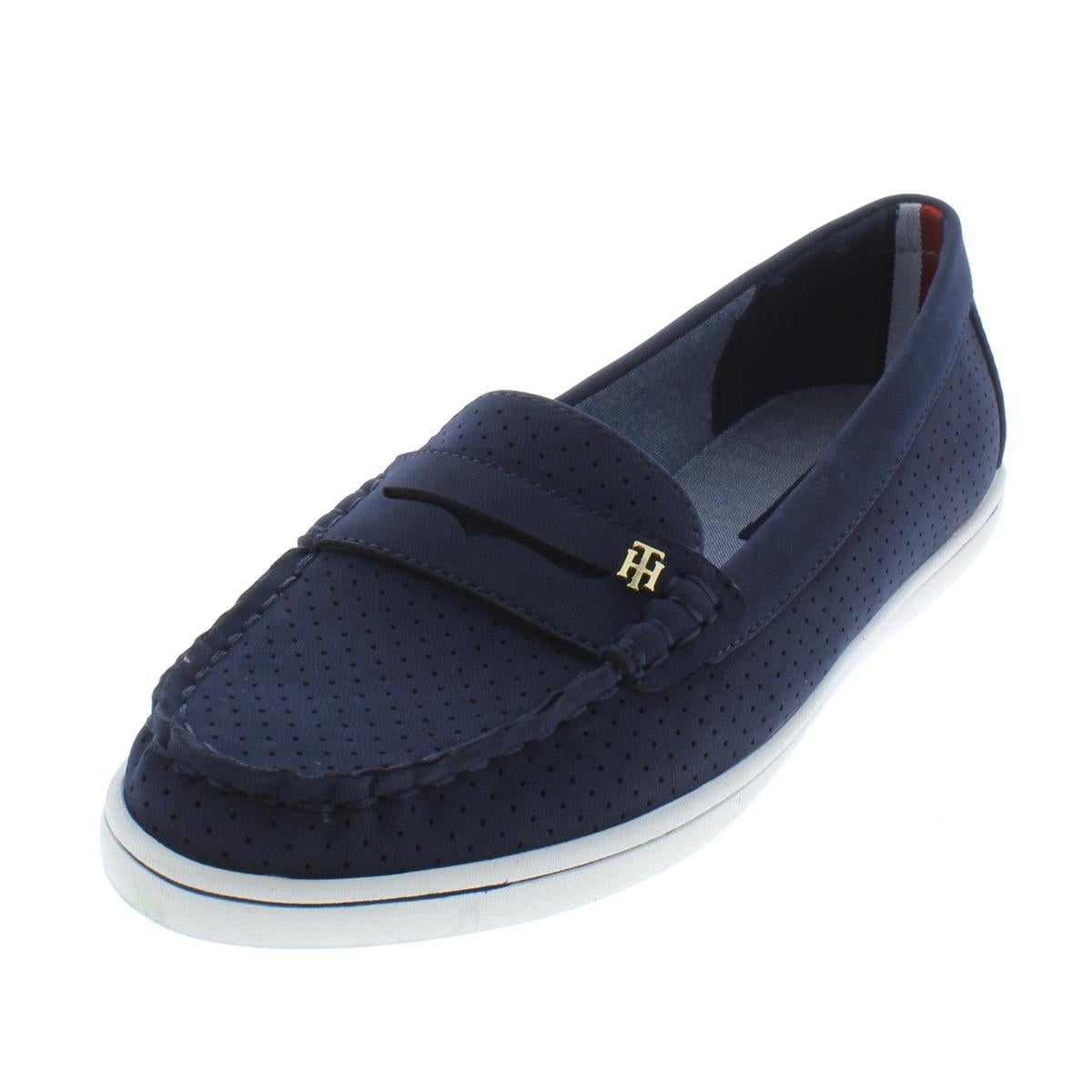 21d93d4d5c7e3c Shop Tommy Hilfiger Womens Butter5 Boat Shoes Perforated Close Toe - Free  Shipping On Orders Over  45 - Overstock - 21027805