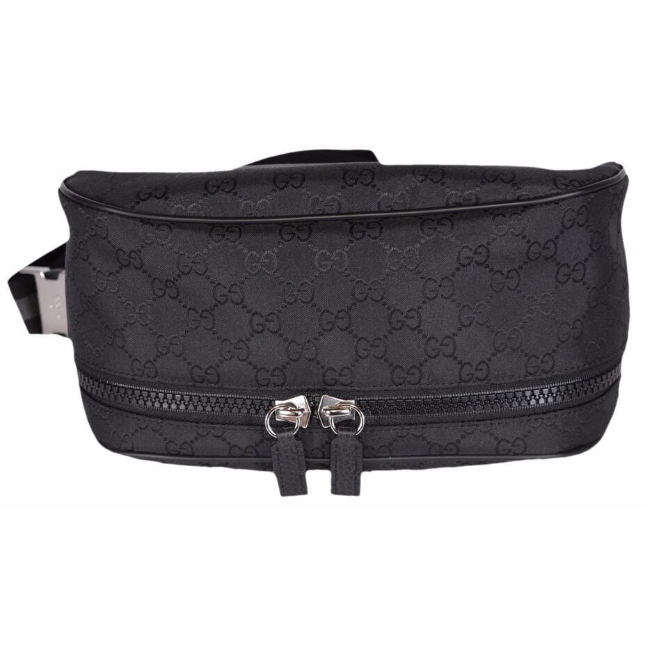 df6b64d9cff Shop Gucci 449182 Black Nylon GG Guccissima Web Stripe Fanny Pack Waist  Sling Bag - Free Shipping Today - Overstock - 14771720
