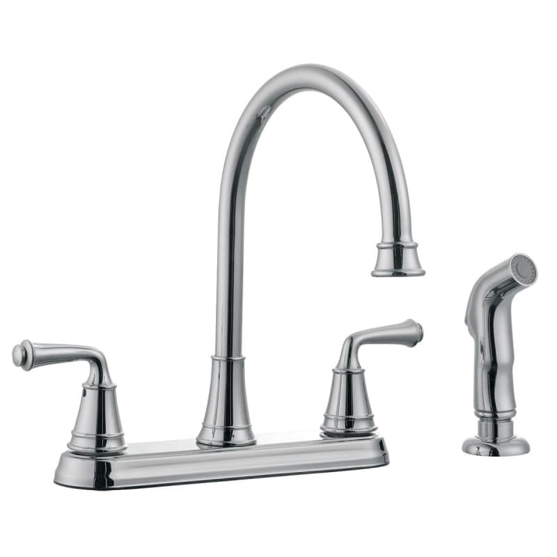 Design House 524710 Double Handle Kitchen Faucet with Metal Lever ...