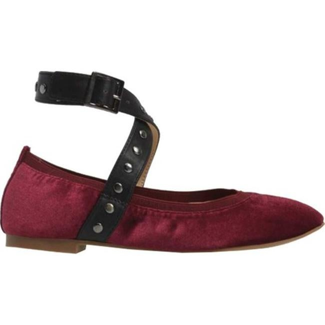 4f66febd81 Shop Charles by Charles David Women's Dean Strap Flat Cabernet/Black Velvet/ Smooth - Free Shipping On Orders Over $45 - Overstock - 17620781
