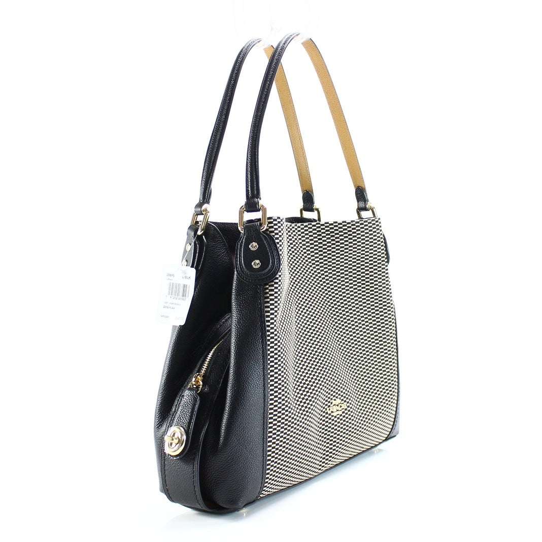 ... where can i buy shop coach black brown gold legacy jacquard edie 31 shoulder  handbag free 38198ab3ee1a9
