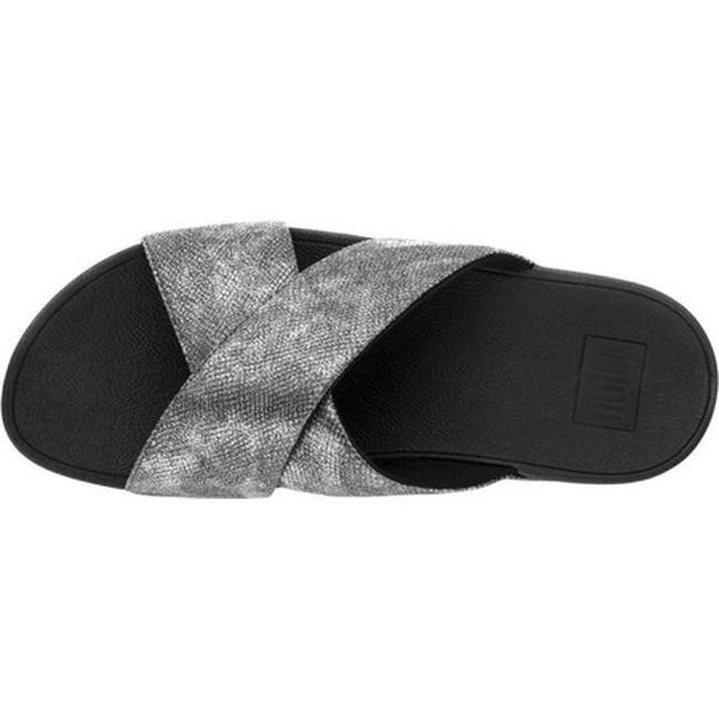 8c20b83faa953 Shop FitFlop Women s Lulu Crisscross Slide Black Shimmer Snake Print Faux  Leather - Free Shipping Today - Overstock - 22128387