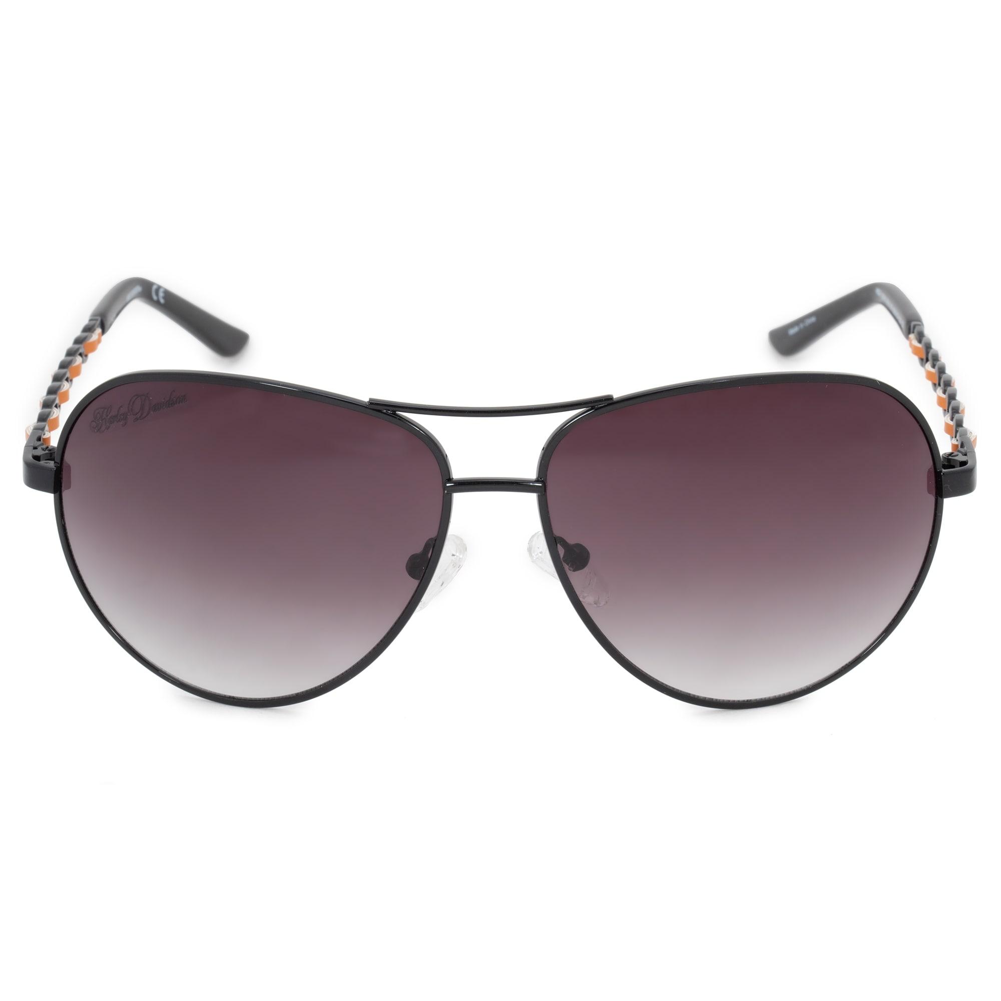 39435bec87 Shop Harley Davidson Aviator Sunglasses HDS5016 BLK 35 62 - Free ...