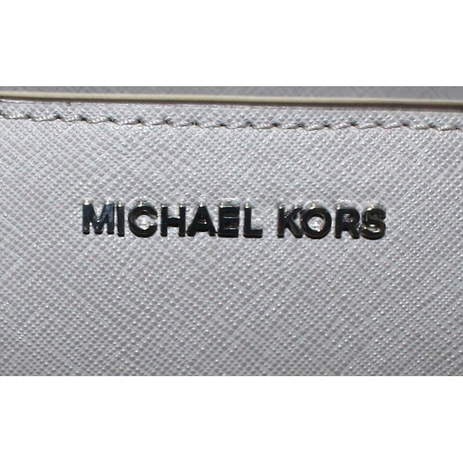 97e5a911b9b4 Shop Michael Kors Pearl Gray Quinn Large Satchel Saffiano Leather Purse -  Free Shipping Today - Overstock - 21951624