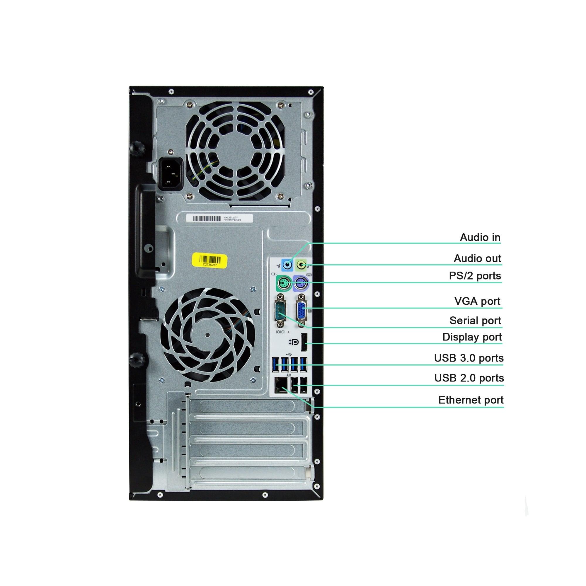 HP Compaq Pro 6305-T A8-5500B 3 2GHz CPU 8GB RAM 500GB HDD DVD-RW Windows  10 Pro PC (Refurbished)