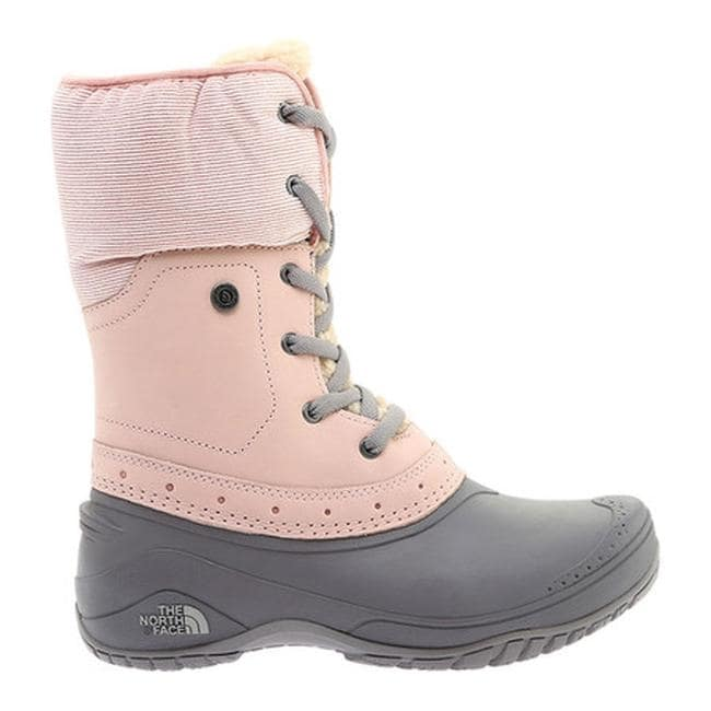 573a3d4c8 The North Face Women's Shellista Roll-Down Waterproof Boot Misty  Rose/Q-Silver Grey