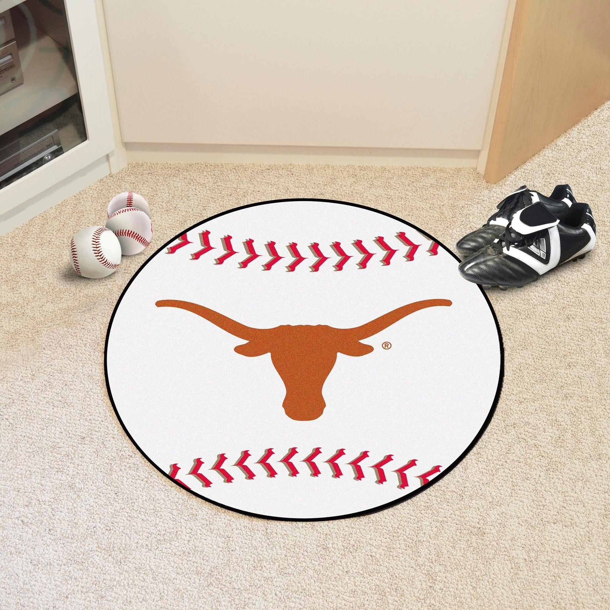 Shop NCAA University of Texas Longhorns Baseball Shaped Mat Round ...