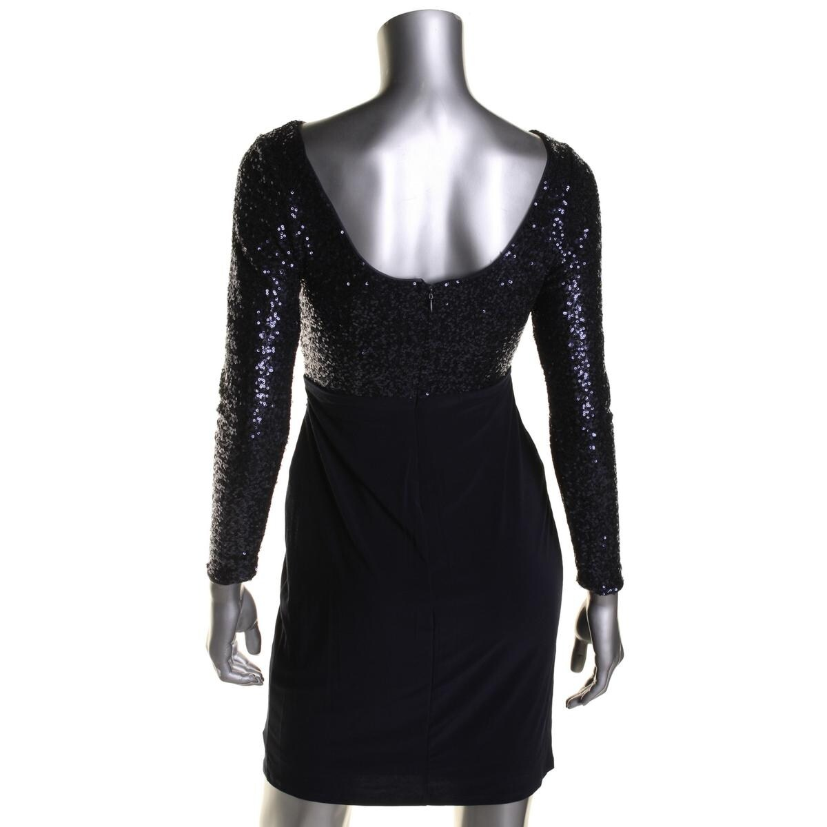 cef645e0 Shop Lauren Ralph Lauren Womens Petites Cocktail Dress Sequined Long Sleeve  - Free Shipping On Orders Over $45 - Overstock - 18406399