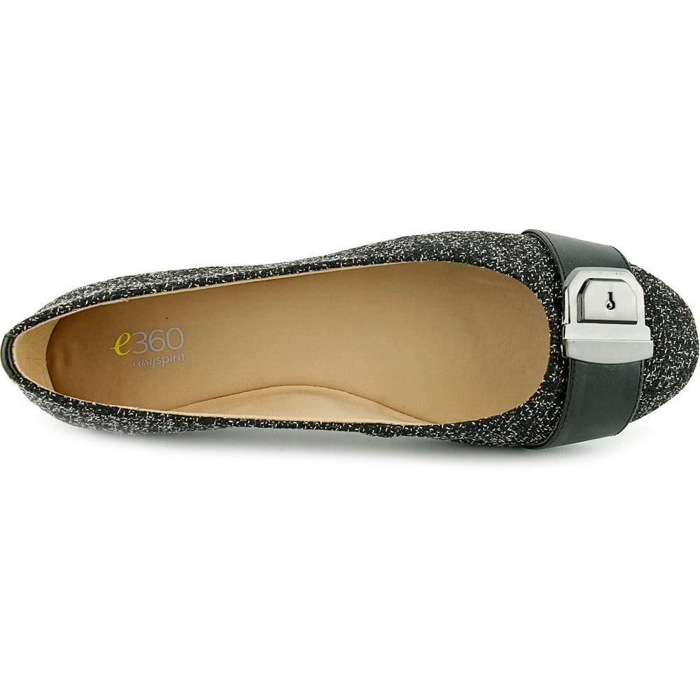 76edfb232e08 Shop Easy Spirit e360 Gianetta Women W Round Toe Canvas Black Flats - Free  Shipping Today - Overstock - 13845335
