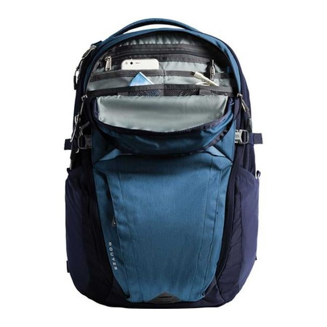 0c2fc12c54d6 The North Face Router Backpack Dish Blue Light Heather Urban Navy - US One  Size (Size None)