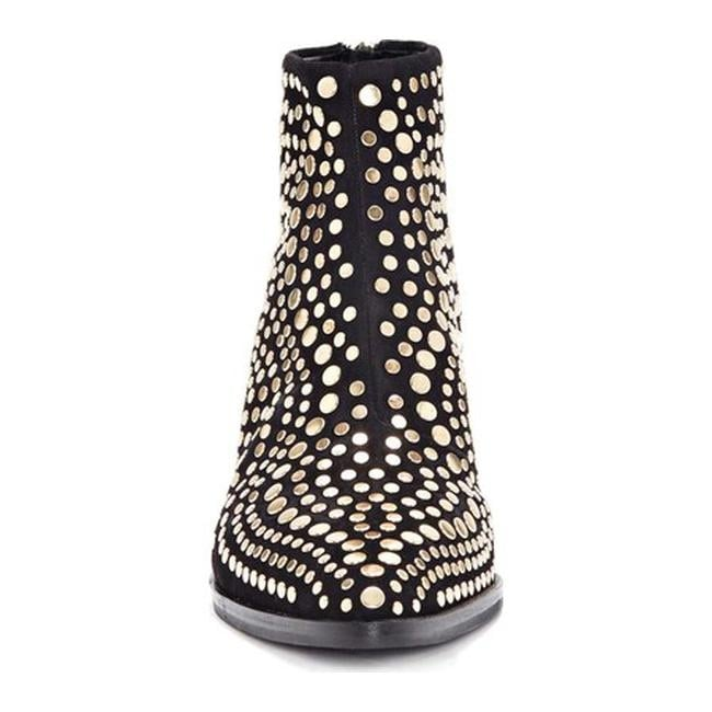 a394b8ed984 Vince Camuto Women's Edenny Studded Bootie Black Luxe True Suede